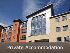 picture of building with caption 'Private accommodation'