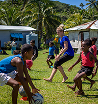 Student Volunteers in Fiji