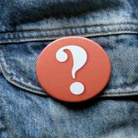 Question mark badge