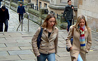 Students walking on the City campus