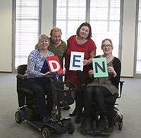 group shot of 4 members of the disabled employee network
