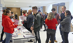 Students at open day