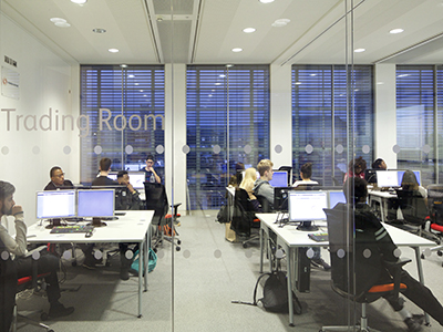 Students in the Trading Room