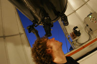 A student at the Trent Astronomical Observatory