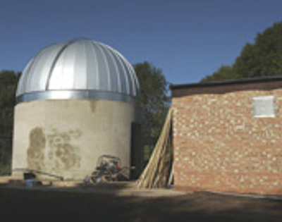 Observatory construction October 2006 new dome and control room