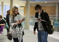 Postgraduate students at our open evening
