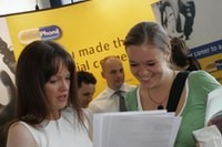 Student at a careers fair