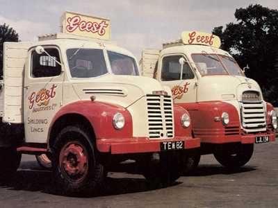 Two more of the fleet of Geest delivery trucks.