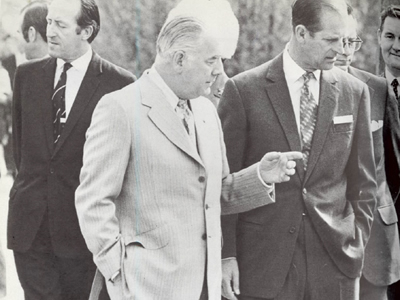 Len van Geest with the Duke of Edinburgh, Prince Philip.