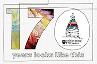 NTU 170 year logo, featuring an illustration of the Waverley building.