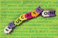 The word Education made up of jigsaw pieces