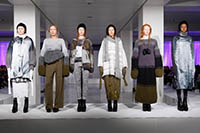 Knitwear models on the catwalk