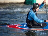 Tom Quinn taking part in the Canoe Slalom