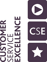 Customer service excellence award logo