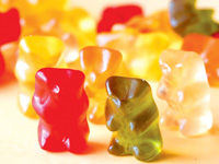 Different coloured jelly bears