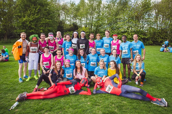 Group of students ready for runNTU 2017