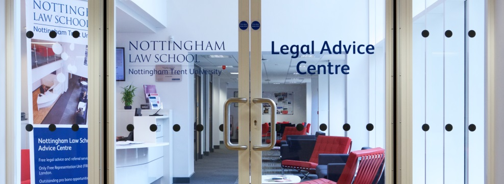 Entrance to the Legal Advice Centre