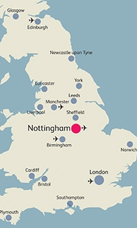 Map Of Uk Nottingham.Nottingham Uk Map Photos