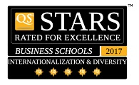 5 QS Stars Internationalisation and Diversity  rating for NBS