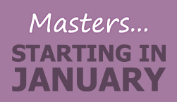 Master's starting in January