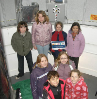 Group of children in Observatory Dome