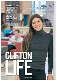 Cover of Clifton Life Magazine  - student in the Pavilion