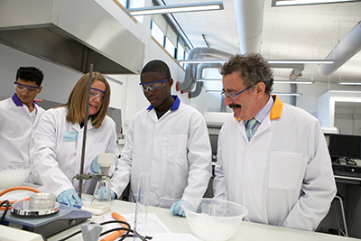 Professor Robert Winston with students