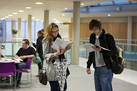 students at open evening