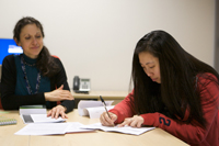 International students studying