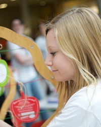 A student taking part at a previous Wellbeing event.