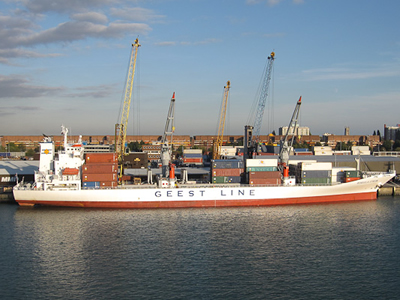 One of the fleet of Geest shipping liners.