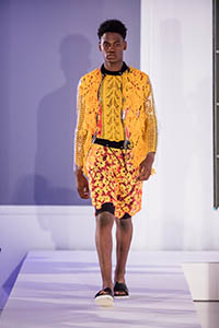 male model on the catwalk